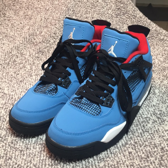 "buy popular e2b4e abbfd TRAVIS SCOTT AIR JORDAN 4 "" HOUSTON OILERS"""